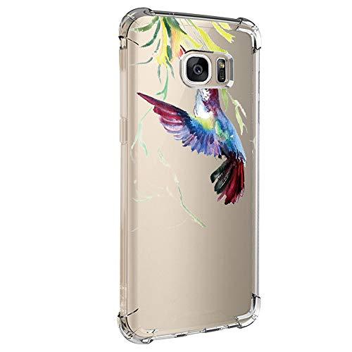 Carcasa para Samsung Galaxy S6 Edge, funda de cristal transparente, funda de silicona suave, funda fina resistente a los arañazos, diseño creativo transparente, funda para Galaxy S6 Edge 6 M
