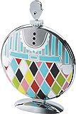 Alessi MW08 Fatman, Alzata Pieghevole di Design, Acciaio Decorato