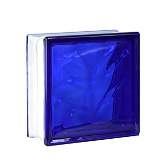 Foto di 5 pezzi FUCHS vetromattone nuvola blu 19x19x8 cm