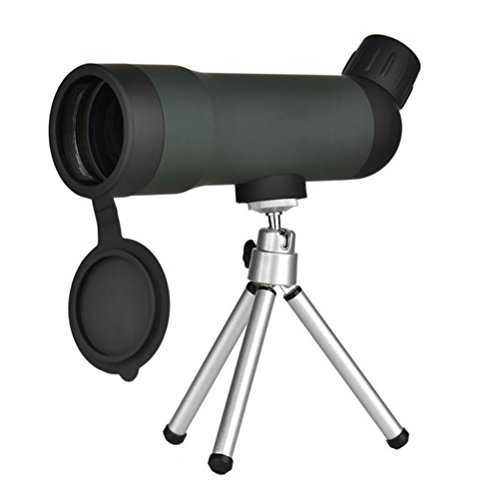 WINOMO Telescopio Monocular 20 x 50 Impermeable Portátil con Trípode Retráctil para Acampar Excursión (Negro)