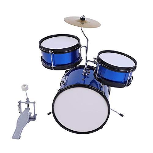 Kid Drum Kit,Kinder Drum Set Schlagzeug Kinder Musik Kinder Drum Kit Drumsticks Pedal Anfänger Set Training Lernen - FrüHerziehung Puzzle Geschenk FüR Kinder ÜBer 3 Jahre Alt