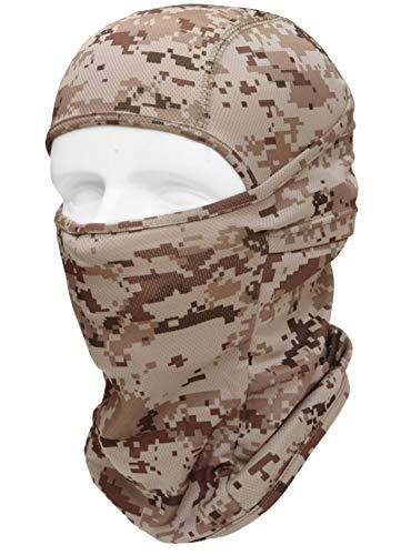 3Way フェイスマスク 多機能 サバゲー マスク バラクラバ 目出し帽 ミリタリー カモフラージュ ヘッドウェア サバイバルゲーム・自転車・BMX・バイク・アウトドア Type:JXL-MDF (砂漠迷彩)