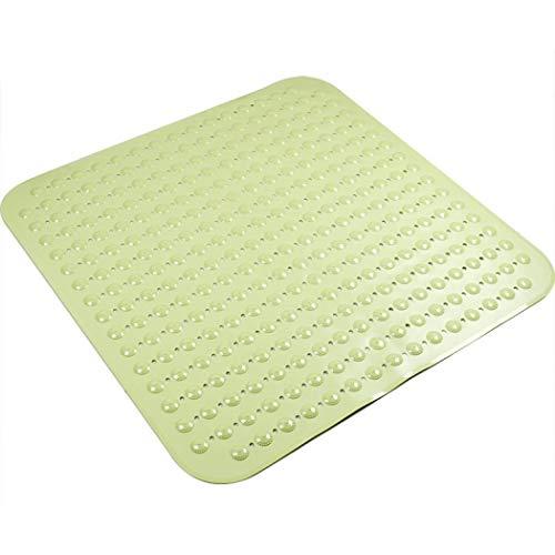 Weiche Duschmatte 80 x 80 cm für Duschraum Anti-Pilz Saugnapf Bodenmatte Rutschfeste Duschmatten mit Saugnäpfen Badewannenmatte Antibakteriell Waschbar Wannenmatte (Grün)