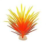 GRASARY Flores artificiales, 13 cm, planta artificial narciso, agua, hierba, acuario, ornamento, amarillo