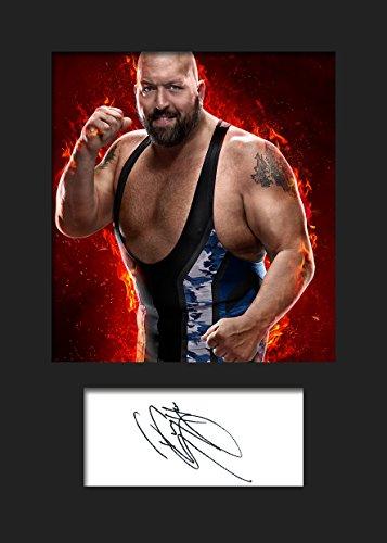 FRAME SMART Big Show WWE   Foto montada, reimpresión de Firma   Tamaño A5 para Marcos de 6x8 Pulgadas   Máquina Cortada   Exhibición de la Foto   Presente, Regalo, Coleccionable