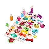 perfeclan Reconocimiento del Color del número de la Forma del Tablero Ocupado de Madera de la educación temprana de los niños para los niños pequeños