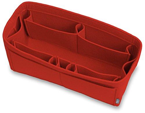 Pelikus Felt Purse & Tote Organizer Insert/Multi-Pocket Handbag Shaper (Large–Slender, Red)