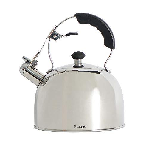 ProCook - Bouilloire sifflante pour cuisinère Compatible Induction 2l poignée Ergonomique Noire