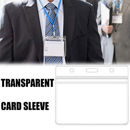 YIPUTONG Kartenhüllen transparent, 10PCS Klar Wasserdicht Plastikabzeichenhalter Namensschild Abzeichen ID-Kartenhalter Kartenschutz für Kartendokument-Fotogutschein