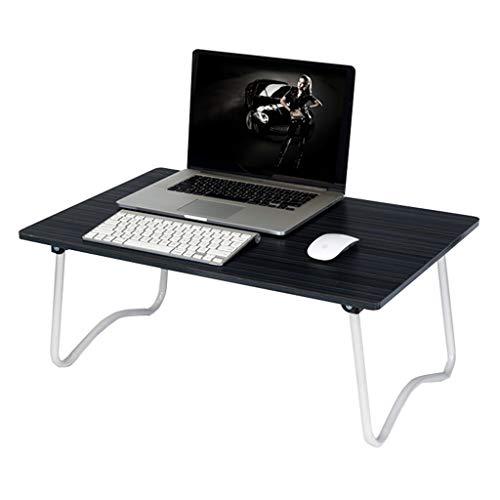 QFF-Bureau d'ordinateur Table à rayures, table de lit pour ordinateur portable de table de chambre à coucher pliable, facile à transporter, table simple, balcon, bureau, table à thé, bureau multifonct
