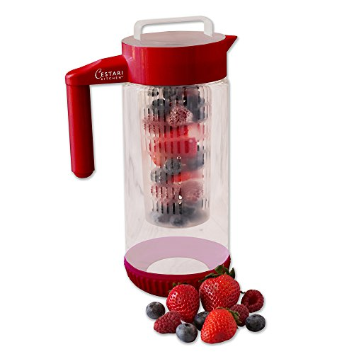 fruit infused water pitcher glass - 9