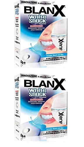 2 x Blanx White Shock Trattamento Intensivo Sbiancante con LED Bite 30ml