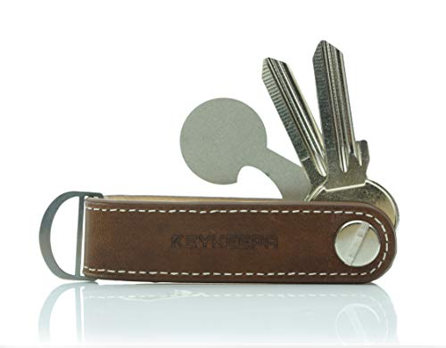 KEYKEEPA® Loop - Leder Key Organizer für bis zu 7 Schlüssel (Whiskey Brown) …