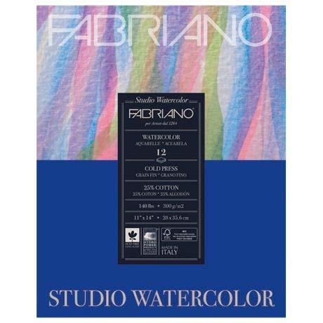 Fabriano Studio Watercolor Pad Fabriano 140 Lb Cold Press acuarela Pad 11 x 14 pulgadas 12 hojas 11x14 en
