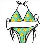 Bañador de dos piezas para mujer, triangular, halter, bikini para playa de verano Blue Mermaid - Báscula de pescado Talla única