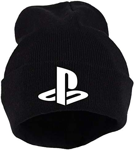 Beanie PS Playstation Knit Hat Video Games Gamer Black