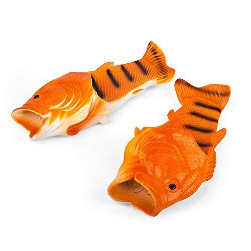 Coddies Fisch Flops | Strandschuhe, Flip Flops, Freizeitschuhe, Hausschuhe, Duschschuhe und Sandalen für Männer, Frauen und Kinder, Orange, 40/41 EU