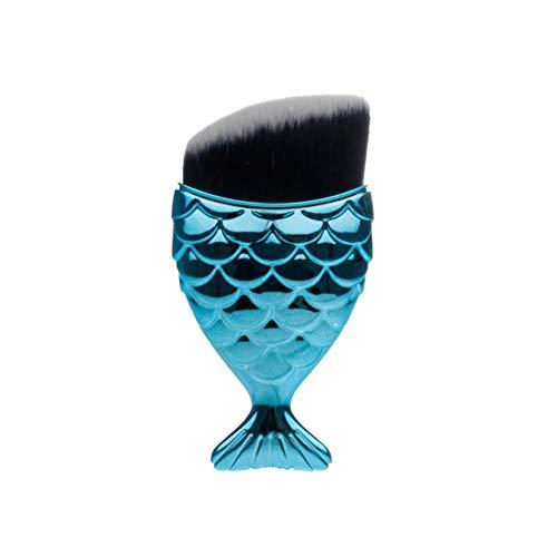 XTR 1 Pcs Professionnel Forme De Sirène Maquillage Brosse Fondation Cosmétique Poissons Brosse Maquillage Outils Kit Poudre Visage Blush Brosse, 11