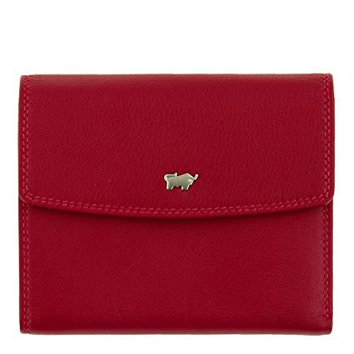 BRAUN BÜFFEL Geldbörse Golf 2.0 aus echtem Leder - 14 Fächer - rot