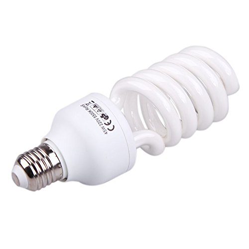 SODIAL E27 220V 45W 5500K Lampara Bombilla Horario de iluminacion de Estudio de Video Fotografia blanco