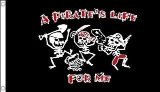 AZ FLAG Bandera UNA Vida DE Pirata 150x90cm - Bandera con Calavera - Piratas - A Pirate Life 90 x 150 cm