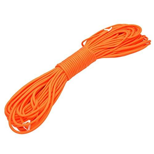 FuckTheFear Paracord 550-100 ft (30 m) reißfeste Survival Fallschirm-Schnur aus Nylon 4mm - Typ III mit 7 Kern-Strängen in vielen Farben - Das Seil für Kreative und Macher (orange)