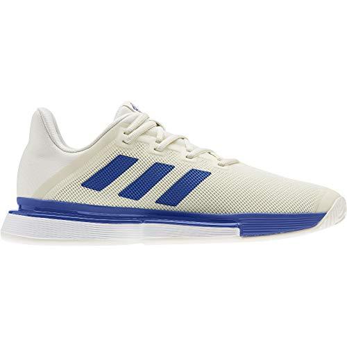 adidas SoleMatch Bounce M, Zapatillas de Tenis para Hombre, Off White/Team Royal Blue/FTWR White, 44 EU