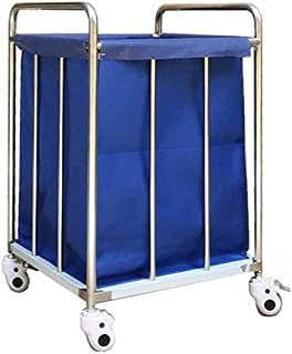 Panier à linge salle de bain Chariot de buanderie à buanderie à buanderie avec sacs en tissu amovible, collectionneur de b...