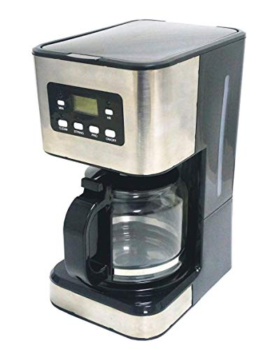 Family Care Cafetera de Goteo, Cafetera Eléctrica, Jarra 1.5 Litros para 12 Tazas, Acero Inoxidable y Plástico, Color Negro, 950 W