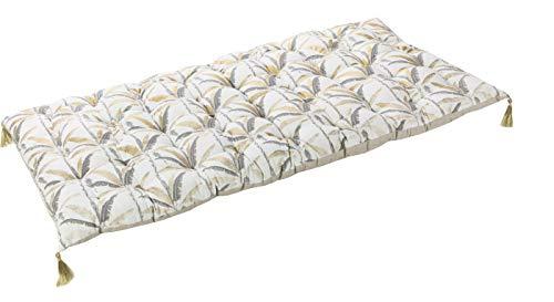 Deco and Co Décoration intérieure naturelle - Futon / Coton de sol, Rembourrage / 100% Coton, Imprime, 60X120 cm