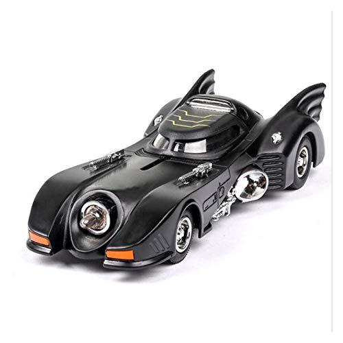 De Molde Fundido 1:36 para Batman Car 1989 Aleación De Fundición A Presión Modelo De Coche Luz De Sonido Pull Back Boy Toy para Niños Juguetes Colección De Coches Regalos