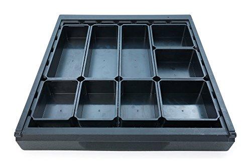 Wolfcraft 6790000 Sistema para ordenar cajones, 9 cajas