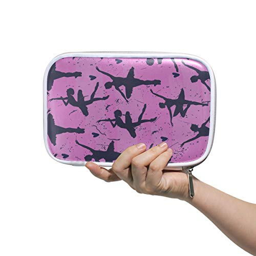 Art Cosmetic Bag Seamless Cute With Dancing Ballerinas And Pen Pouch Organizer Cosmetic Bag Large Multifunctional Portable Pencil Case For Men Women