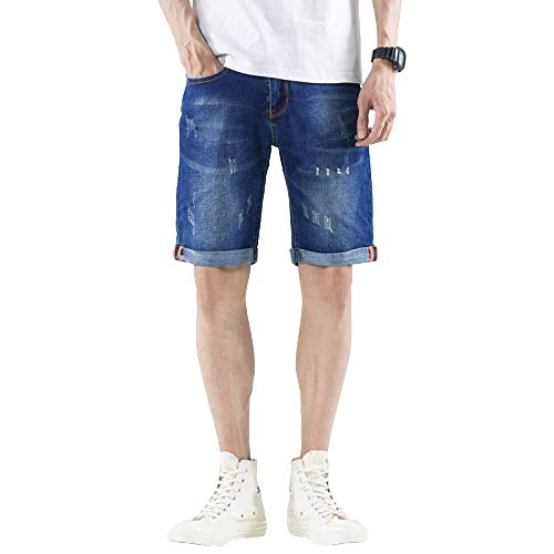 Men's Jeans Fashion Endurance Solid Color Loose Summer Thin Korean Style 30