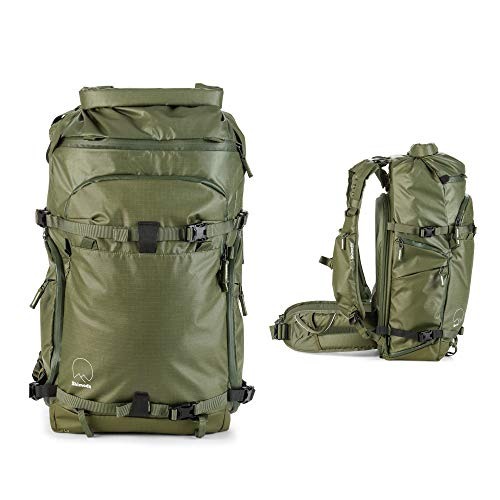 Shimoda Action X50 Water Resistant Camera Backpack - Fits DSLR, SLR, Mirrorless Cameras, Batteries, Lenses and Other Gear - Core Unit Modular Camera Inserts Sold Separately - Army Green