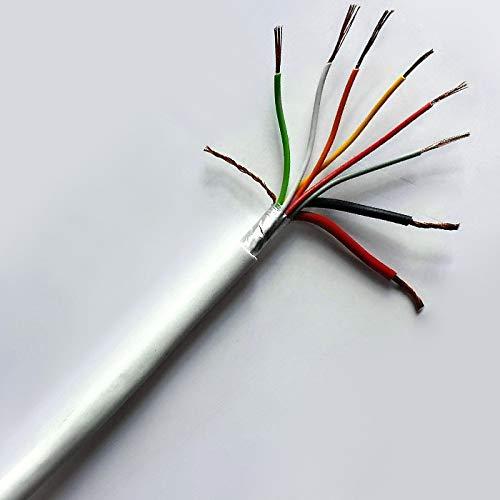 Kabel Alarm Diebstahlsicherung in Kupfer geschirmt 2x 0,50+ 6x 0,22mm² 8adrig 50Meter