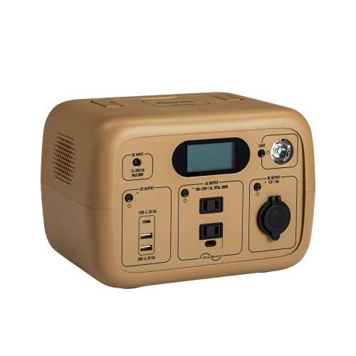 SmartTap ポータブル電源 PowerArQmini2 コヨーテタン(300Wh/83,333mAh/AC300W出力(最大瞬間800W)/正弦波/100V日本仕様/蓄電池) 正規保証2年