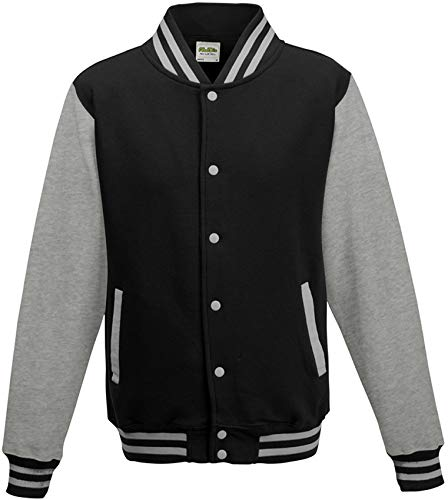 ShirtInstyle College Jacke Jacket Retro Style XL,Schwarzgrau