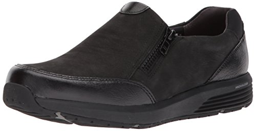 Rockport Women's Trustride W Side Zip Fashion Sneaker, Black, 8 M US