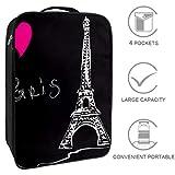 Bennigiry Love Paris Bolsa de zapatos de viaje, organizador de almacenamiento portátil, bolsa de golf para mujer y hombre