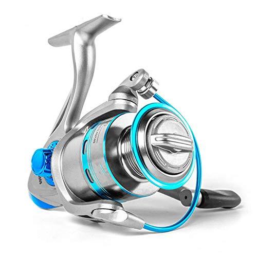 Hielo Reel de hilado 12BB + 1 Carrete de pesca de acero inoxidable Metal bobina Carrete de pesca de carrete Spinning (Bearing Quantity : 13, Color : Gold)