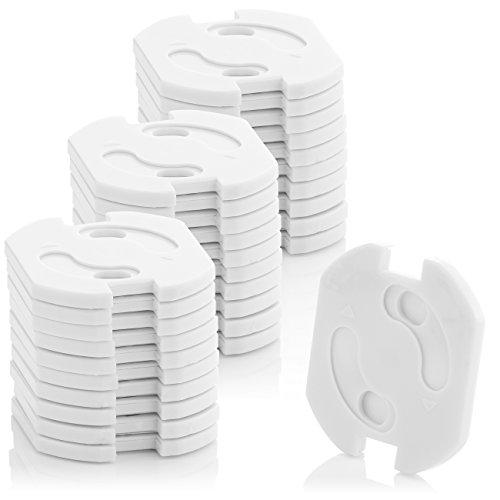 deleyCON 30x Kindersicherung für Steckdosen und Steckdosenleisten mit Drehmechanik Kinderschutz Steckdosenschutz Steckdosensicherung Baby Kleinkinder