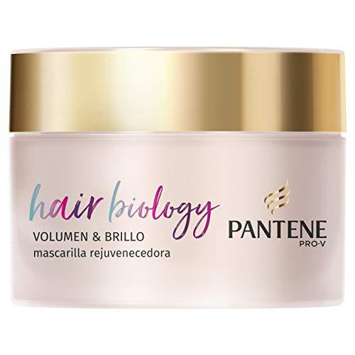 Pantene Pro-V Hair Biology Volumen & Brillo Mascarilla 160 ml, Para Pelo Fino O Debilitado Y Teñido