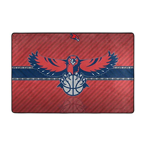 Dopy Atlanta Basketball Fans Large Area Rugs for Living Room Bedroom Kids Area Rugs Baby Rugs for Play Area Rugs 2x3 Ft 4x6 Ft Under 50