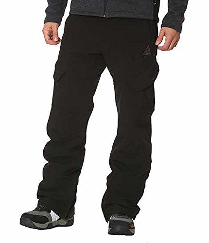 Gerry Men's Snow-tech Pants Boarder Ski Pant 4 Way Stretch (Black, Medium)