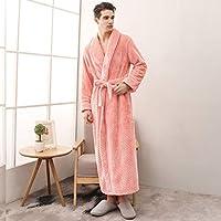 女性のバスローブ、ファッショナブルなセクシーな男性と女性の秋と冬のパジャマ、快適で暖かい厚くて調節可能なレースアップホームウェア、洗える,A orange,M