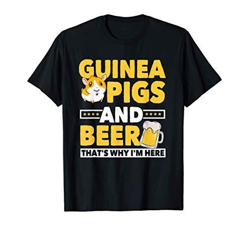 Guinea Pigs & Beer Bier Kleidung Geschenk Meerschweinchen T-Shirt