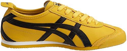 Onitsuka Tiger HL202 Mexico 66 Unisex Sneaker, Gelb (0490-Yellow/Schwarz), 44.5 EU