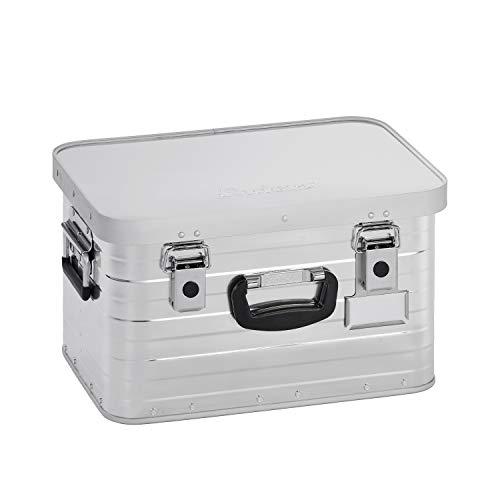 Enders Alubox 29 Liter + Schloss Set, hochwertig verarbeitet mit Moosgummidichtung, Alukiste verwendbar als Transportbox und Lagerbox - Alukoffer Lagerkisten Metallkiste Metallbox Aluboxen Alukisten