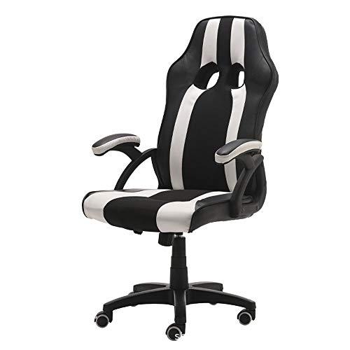 BRFDC Office Chair Gaming Chair High Back Office Chair Desk Chair Racing Chair Reclining Chair Computer Chair Swivel Chair PC Chair (Color : White)